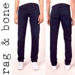 Rag & Bone Fit 2 Slim Leg distress Navy Pants 29